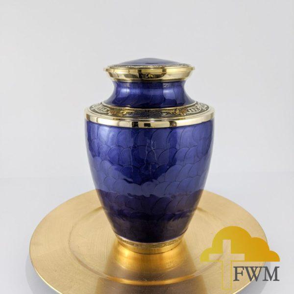 contentment brass metal cremation jar urn