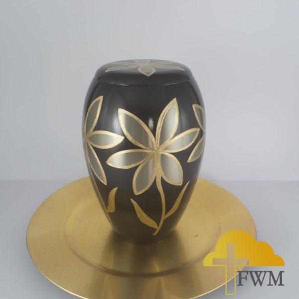 lilies_flower_metal_brass_cremation_jar