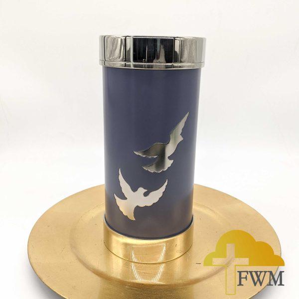 flying dove brass cremation urn (t-lite series)