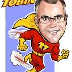 Superhero caricature