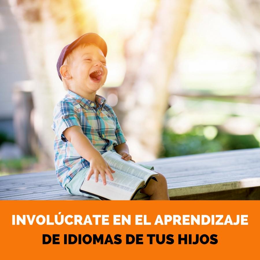 involucrate en el proceso de aprendizaje de idiomas de los niños