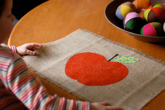 Apple Placemats  Fun Family Crafts