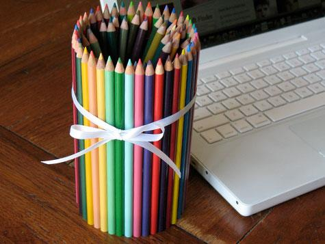 Colored Pencil Can  Fun Family Crafts