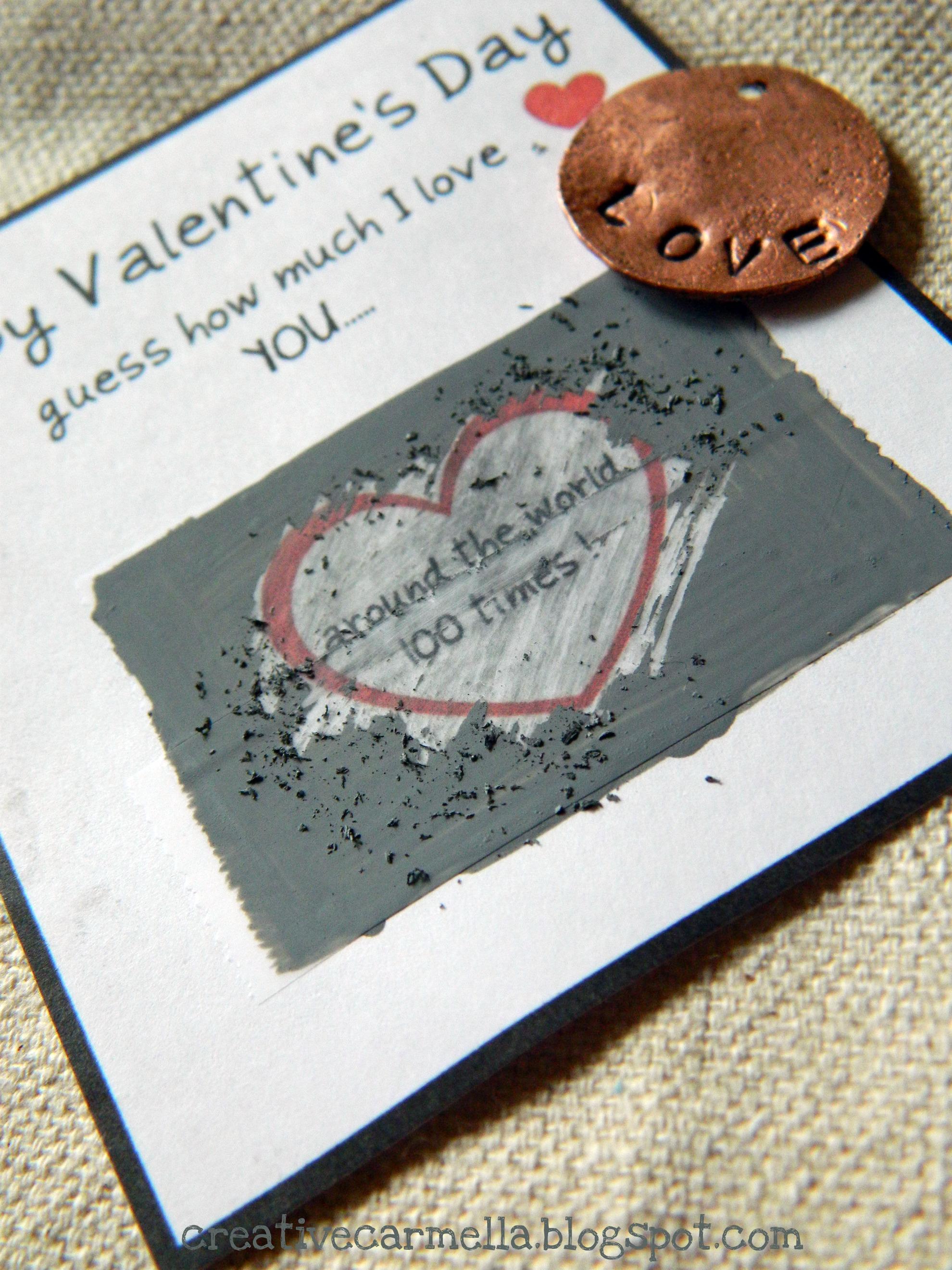 Valentine Scratch Off Cards Fun Family Crafts