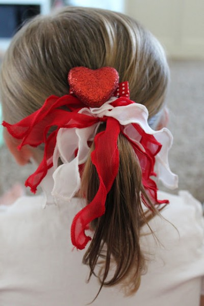 Valentine Heart Hair Clips Fun Family Crafts