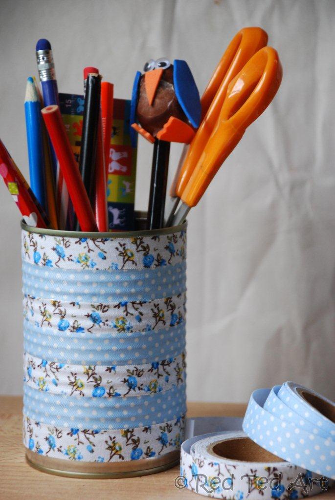 Washi Tape Pen Holder Fun Family Crafts