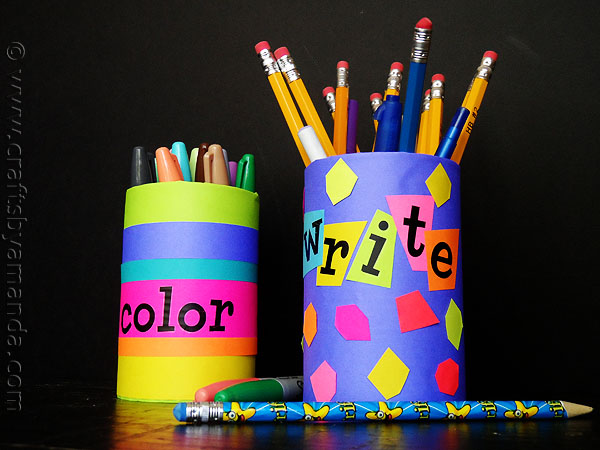 Back to School Pencil Holders  Fun Family Crafts
