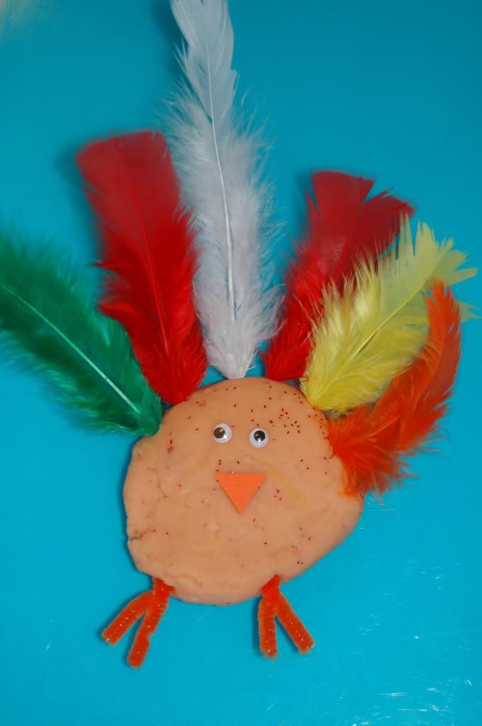 Play Dough Turkey Fun Family Crafts