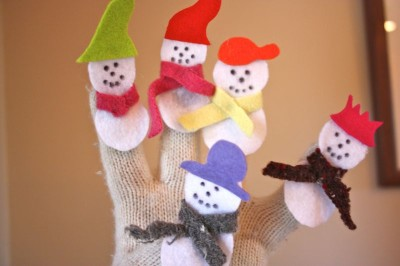 Snowman Finger Puppets Fun Family Crafts