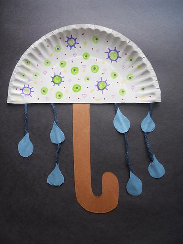 Paper Plate Umbrella  Fun Family Crafts