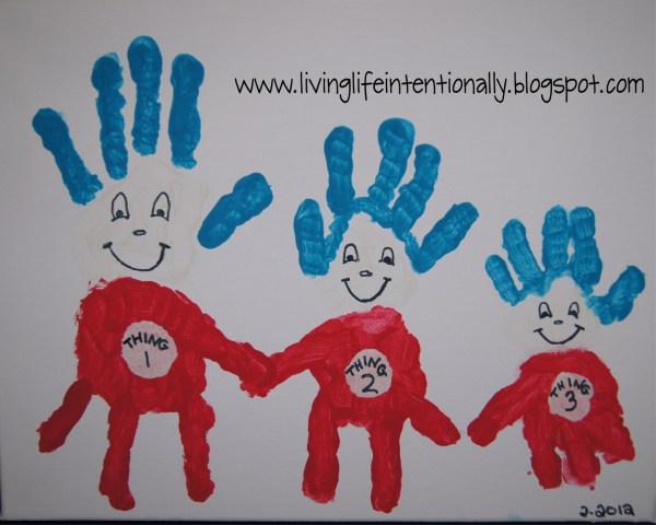 Thing One Handprint Craft