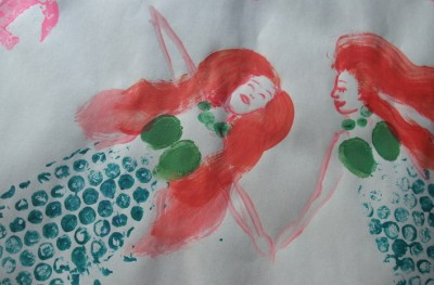 Fingerprints Amp Bubble Wrap Mermaids Fun Family Crafts