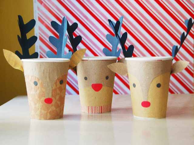 Reindeer Christmas Cups Fun Family Crafts