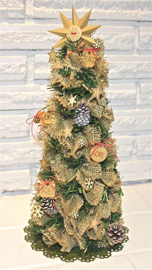 Burlap Christmas Tree  Fun Family Crafts