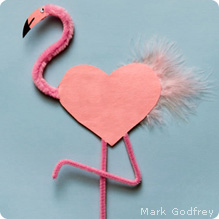 Flamingo Valentine Fun Family Crafts