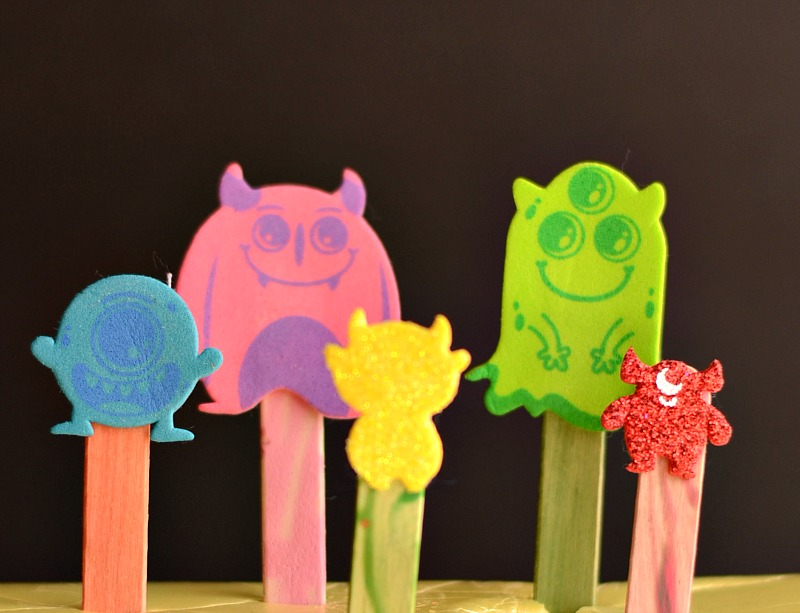 Monster Stick Puppets Fun Family Crafts