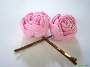 ribbon flower hair pins fun family