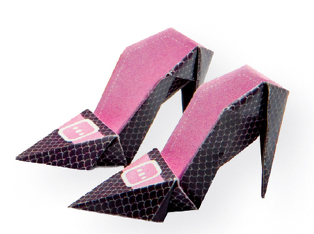 High Heeled Origami Shoes Fun Family Crafts