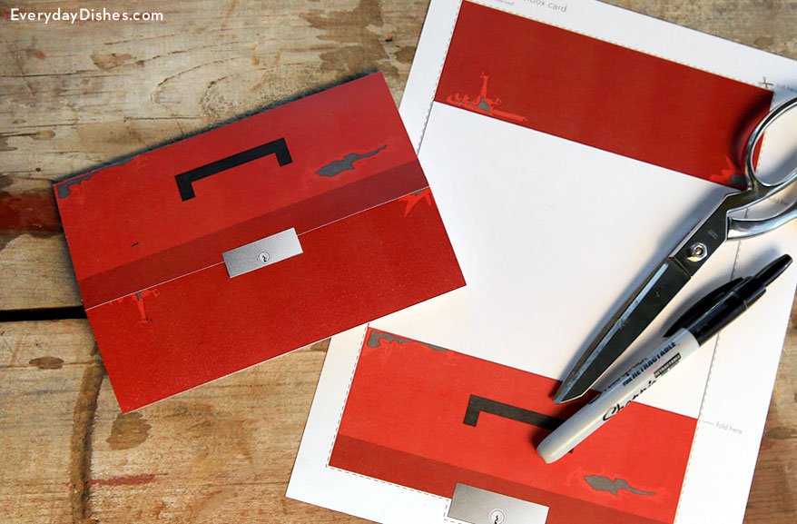 Printable Toolbox Card Fun Family Crafts