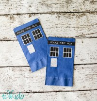 Doctor Who Paper Napkins and Plates | Fun Family Crafts