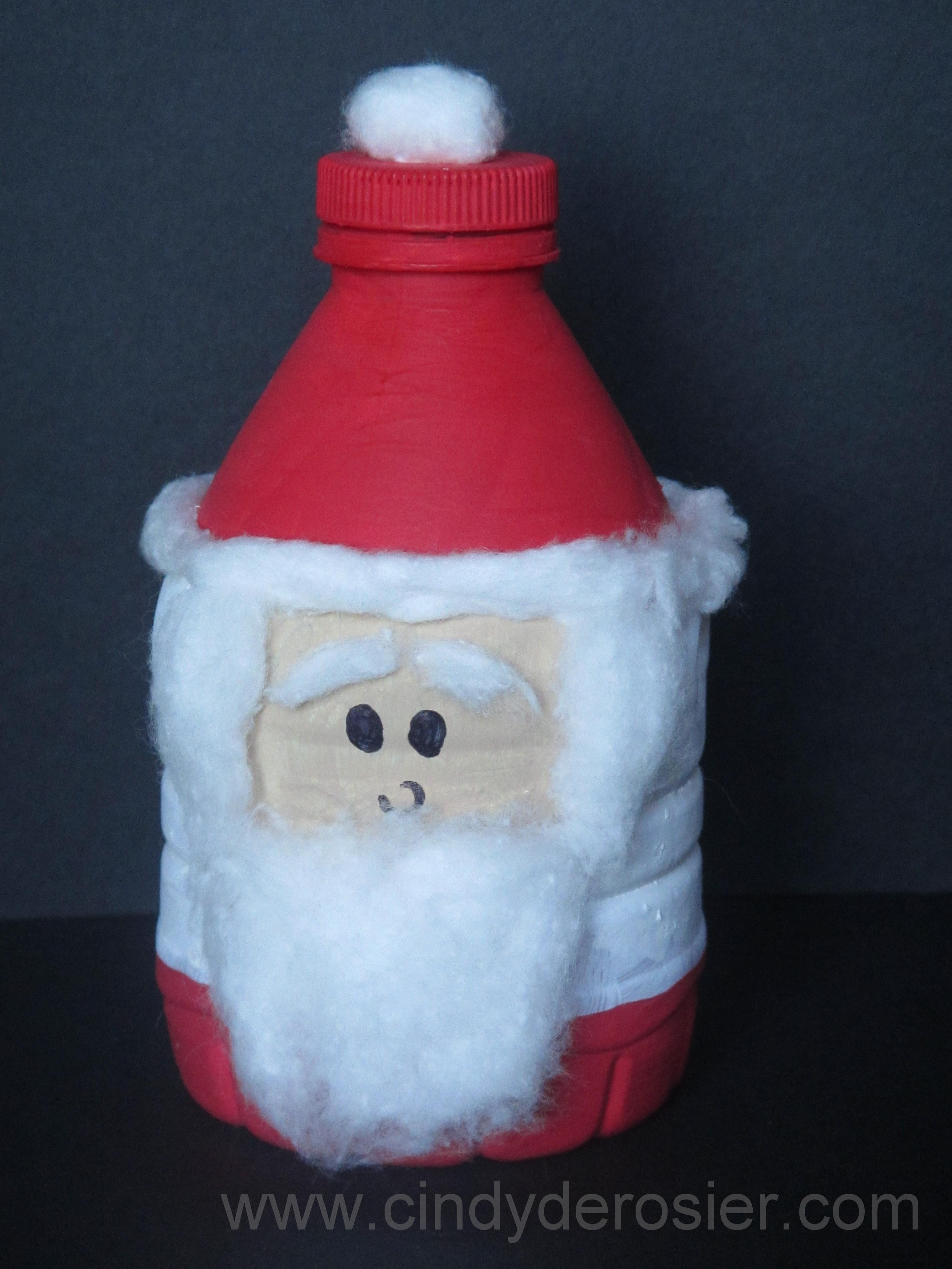 Water Bottle Santa Claus Fun Family Crafts