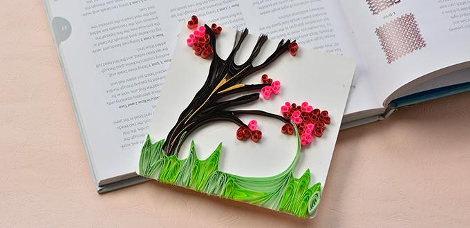 Quilled Blossoming Tree Greeting Card Fun Family Crafts