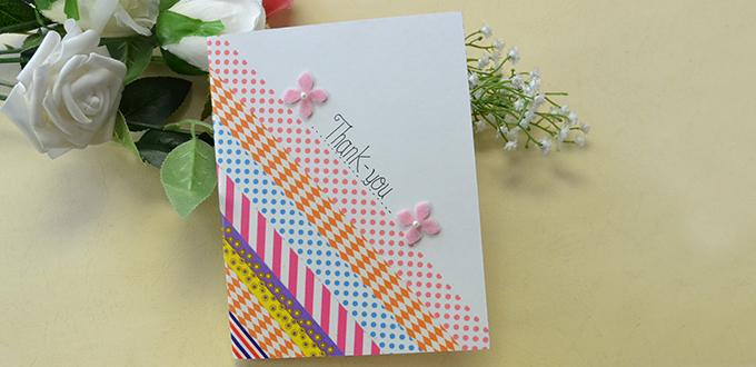 Washi Tape Thank You Card Fun Family Crafts