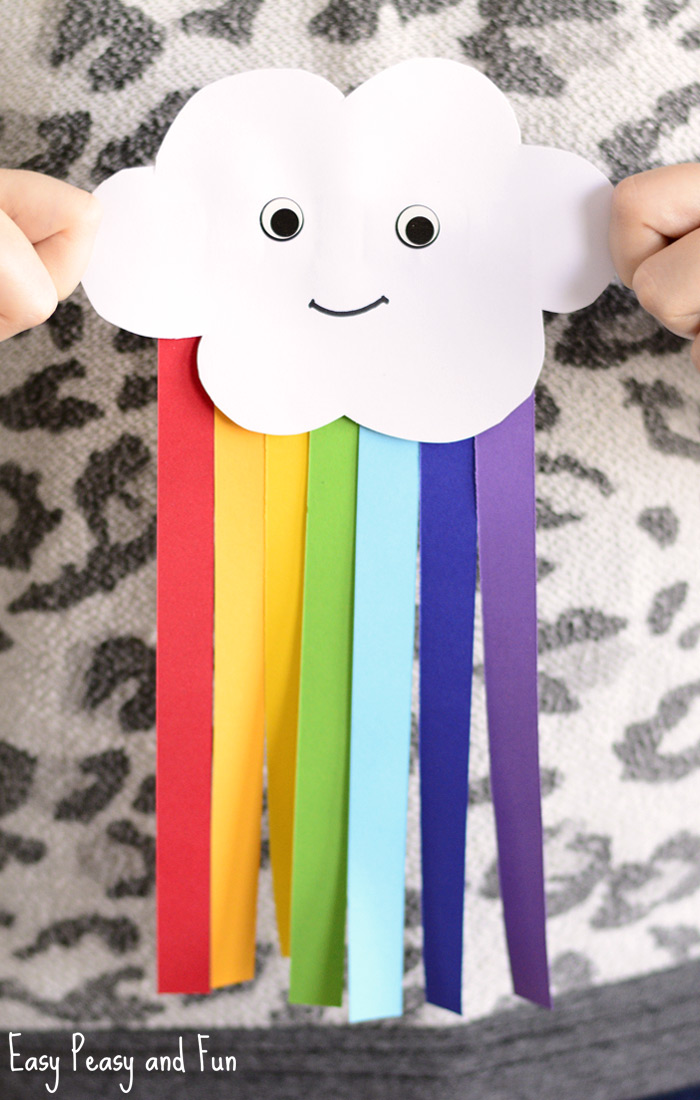 Smiling Cloud with Rainbow  Fun Family Crafts