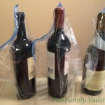 wrapping bottles for plane travel