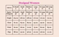 Desigual Size Guide - Canada | Fun Fashion