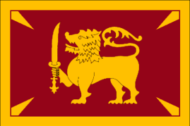 Flag of the Dominion of Ceylon.