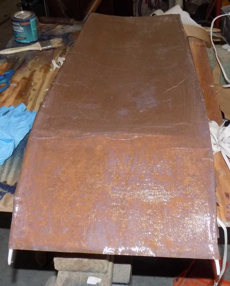 waterproofing foam board minwax craft paper airboat build