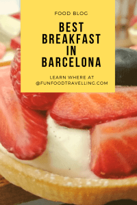 breakfast in Barcelona