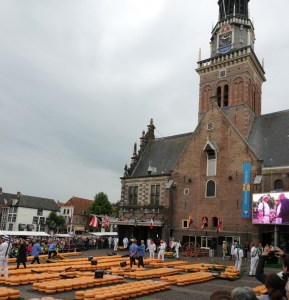world famous Alkmaar cheese market