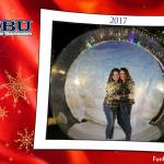 Human Snow Globe at DBU
