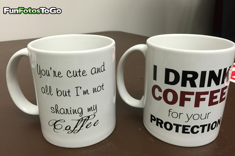 A couple of our coffee themed mugs