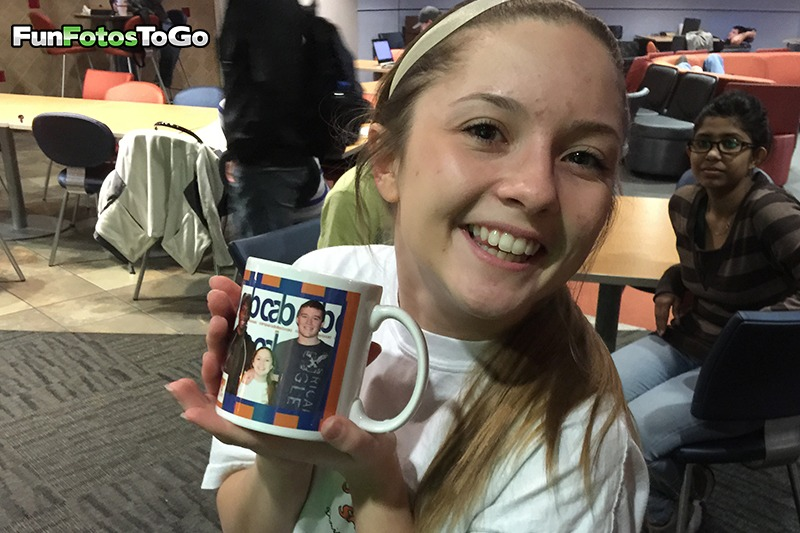 She's happy with her photo mug