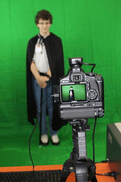 Super hero green screen prep