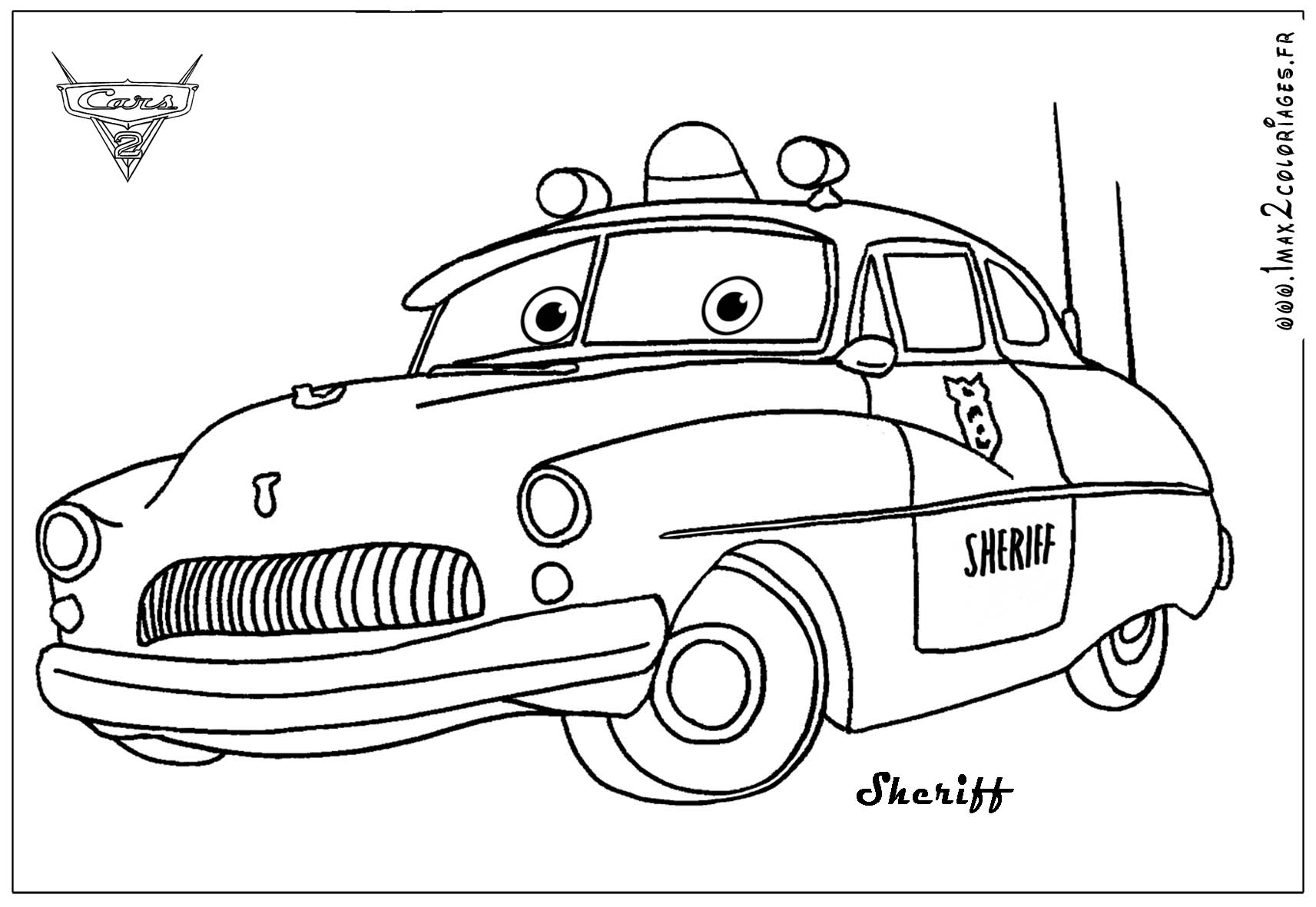 Doc Lightning Mcqueen Coloring Page
