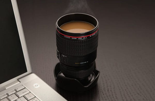 Camera Lens Coffee Travel Mug