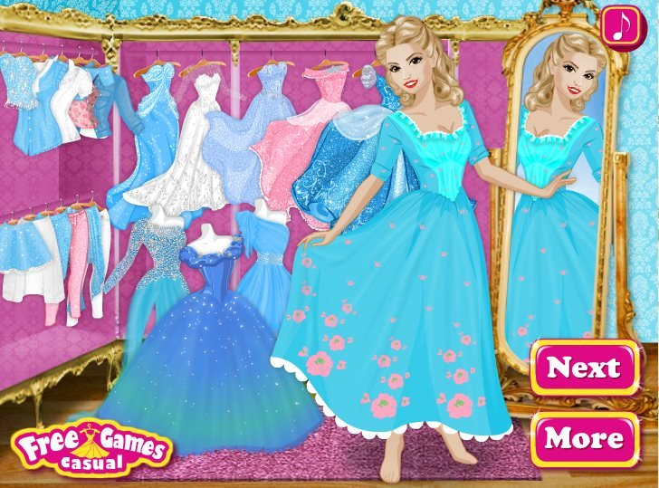 Cinderella in the clothing store game