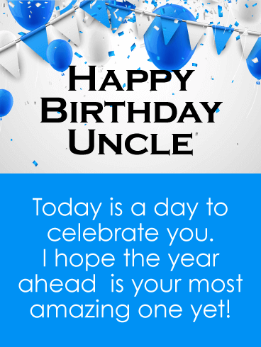 Birthday Wishes to Uncle from Niece