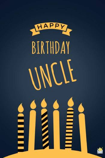 Birthday wish uncle
