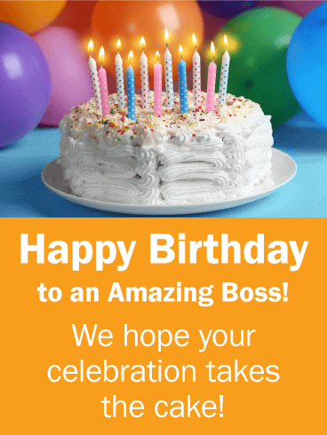 Boss Birthday Greetings