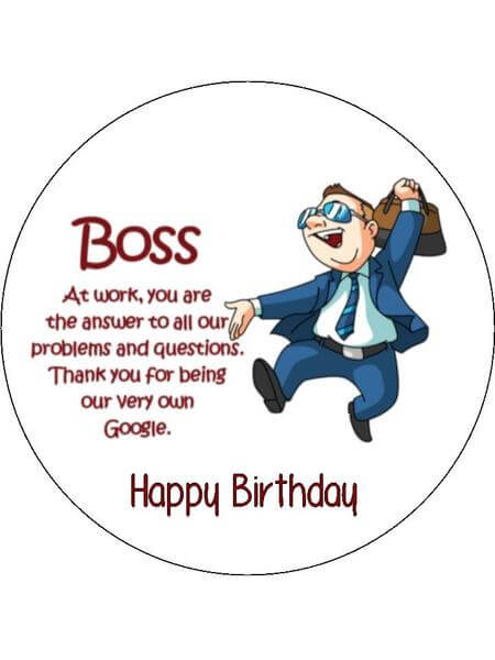 Happy Birthday Boss Funny