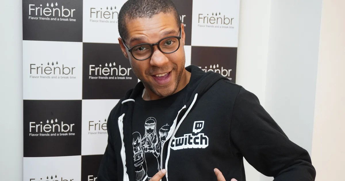 Cory with Twitch jumper