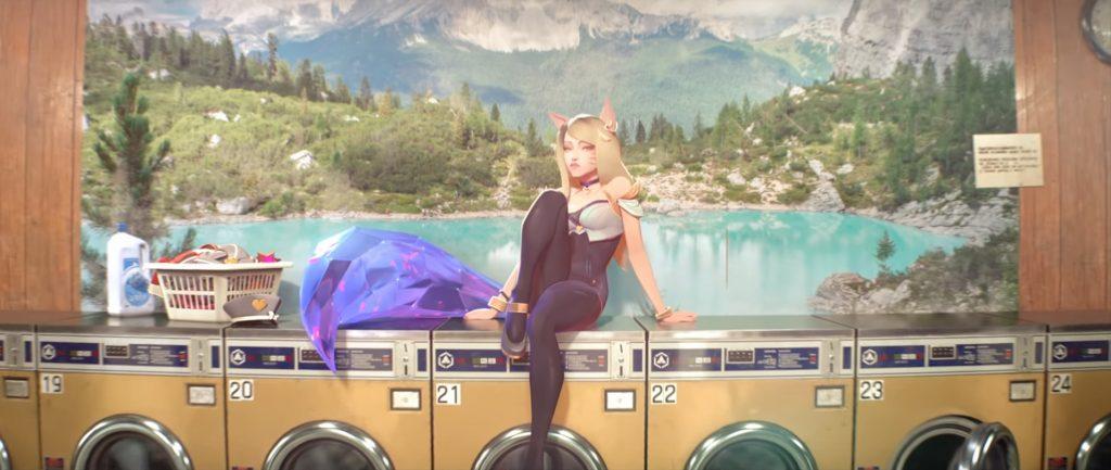 Solo scene of Ahri from K/DA in the 'POP/STARS''s MV