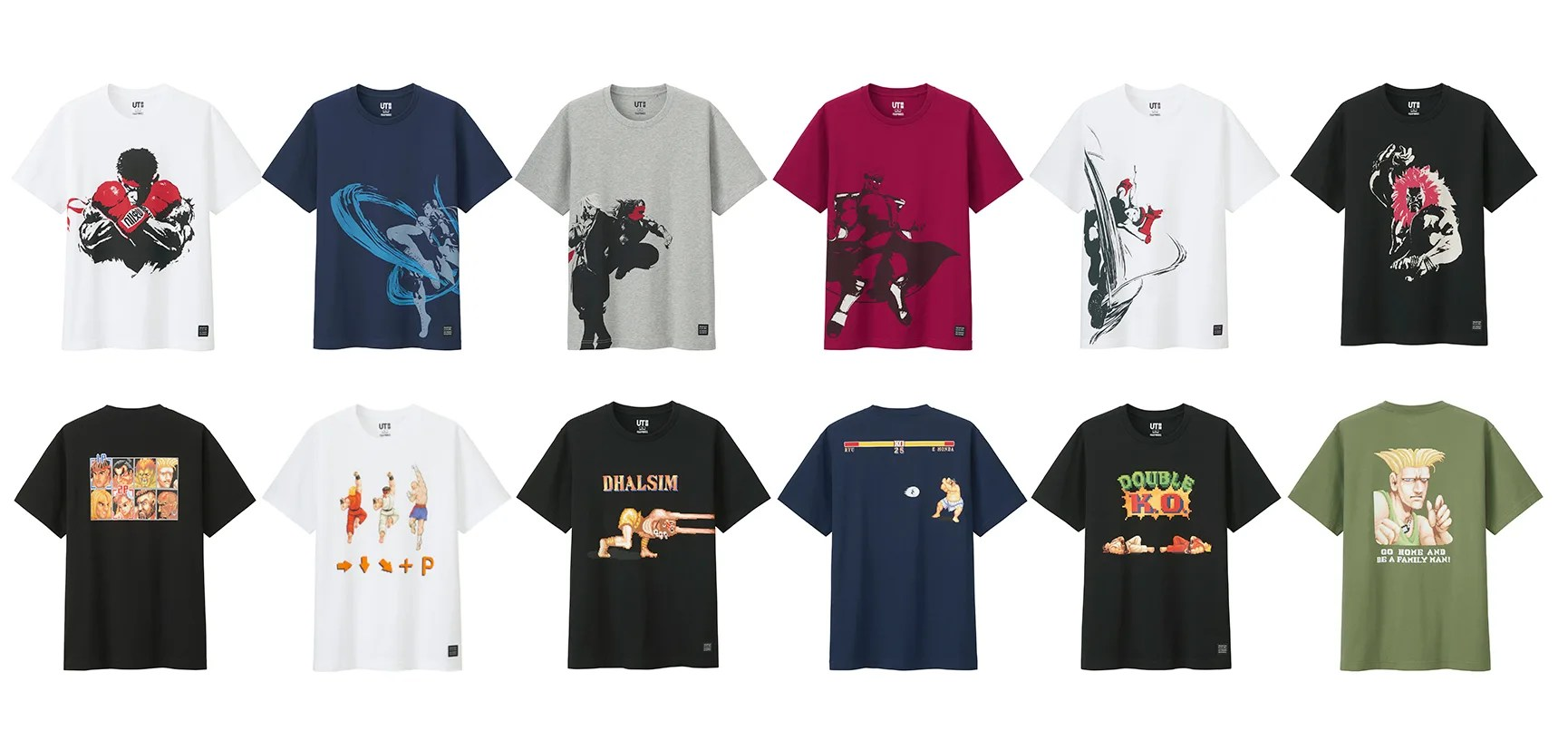 Now on Sale! Street Fighter ×Uniqlo Crossover T-shirt