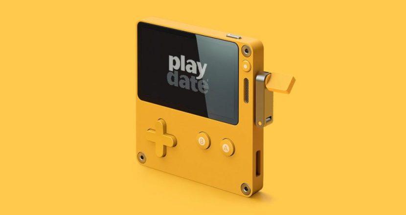 本体に謎のクランクが!新携帯ゲーム機「Playdate(プレイデート)」発表!