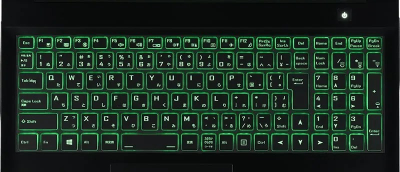 LEDバックライトキーボード